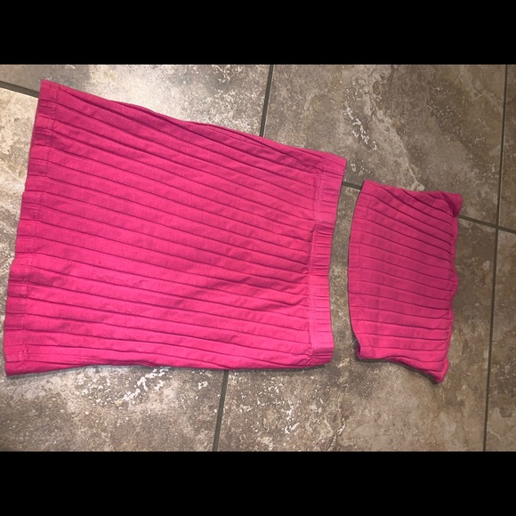 Ribbed Two Piece Pink Set